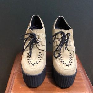Green Platform Creepers Goth Alternative Size US 6
